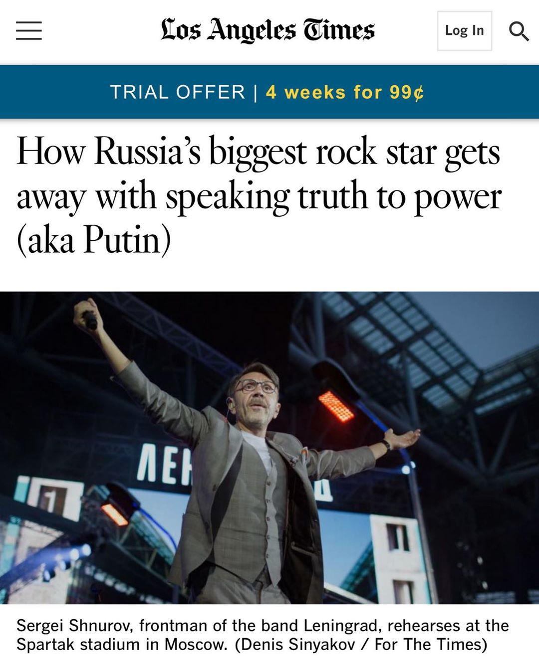 How Russia's biggest rock star gets away with speaking truth to power (a.k.a. Putin)